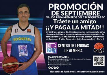 Promoción de septiembre para miembros del cd roquetas bc